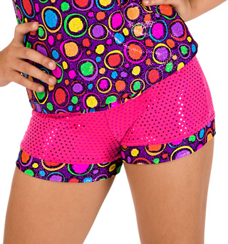 Child Circle Print Sparkle Dance Short - Style No K5101