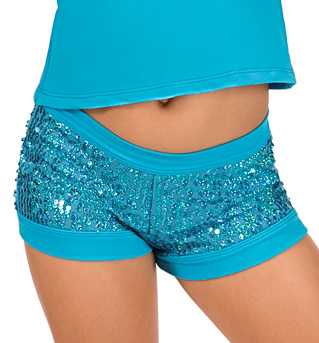 Child Turquoise Sequin Short - Style No K5118