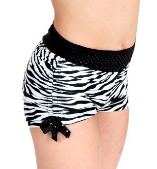 Girls Zebra Shorts with Side Tie - Style No K5119