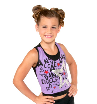 Girls Purple Double Layer Tank Top - Style No K5130