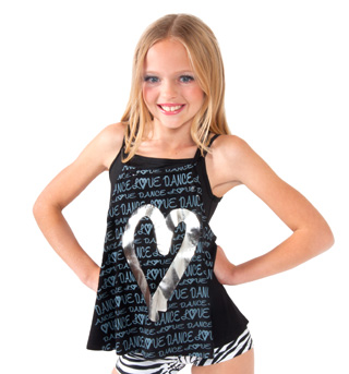 Girls Camisole Heart Top - Style No K5133