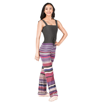 Adult Cinch Waist Stripe Knit Overall - Style No KC1103