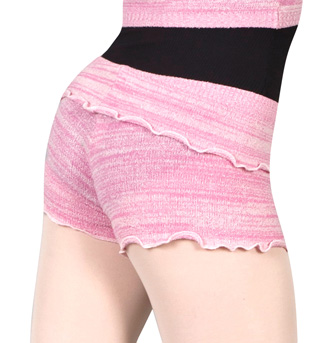 Women Fold-Over Waist Knitted Short - Style No KT0622A