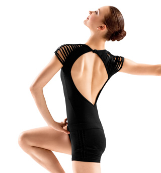 Adult Spliced Shoulder Cap Sleeve Leotard - Style No L3002