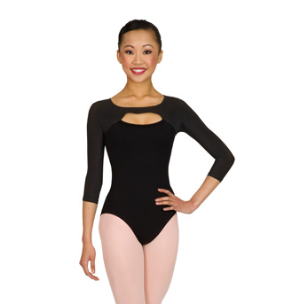 Long Sleeve Leotard with Satin Trim - Style No L6009x