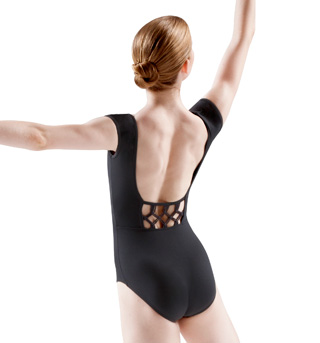 Cap Sleeve Diamond Knot Back Leotard - Style No L6122