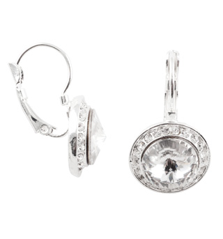 10mm Rhinestone Dangle Earrings - Style No LBE