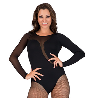 Adult Mesh Long Sleeve Leotard - Style No LS117