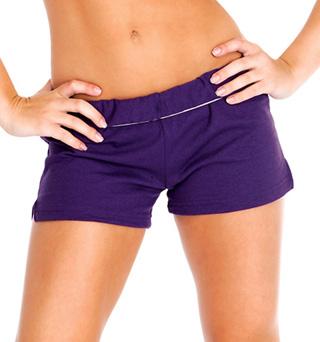 Adult Unisex Elastic Waist Dance Shorts - Style No M037