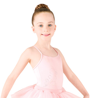 Girls Camisole Diamante Swirl Tutu Dress - Style No M1063C