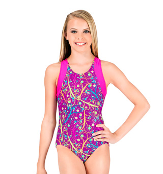 Girls T-Back Tank Leotard - Style No M1626C