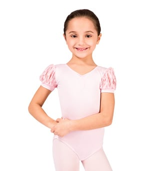 Girls Puff Sleeve Leotard - Style No M2159Cx
