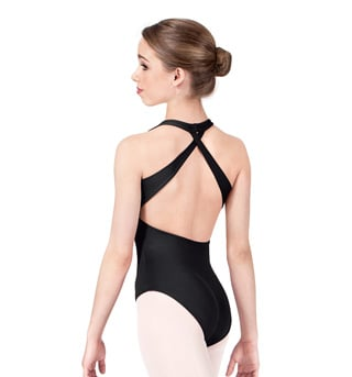 Adult Cross Back Halter Leotard - Style No M2453