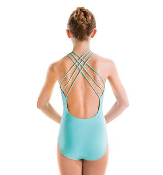Adult Halter High Neck Drape Front Leotard - Style No M2520