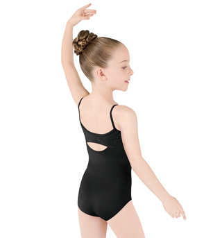 Girls Camisole Diamante Swirl Back Leotard - Style No M269C