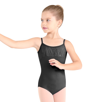 Girls Sequin Stripe Camisole Leotard - Style No M280C