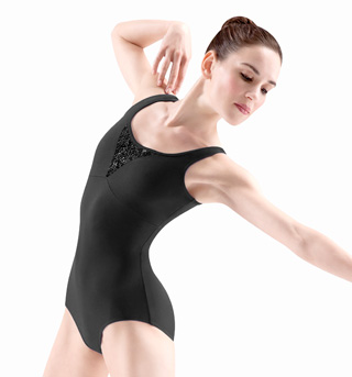 Adult Beaded Tank Leotard - Style No M3014LM