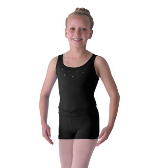 Child Diamante Sparkle Tank Leotard - Style No M306C