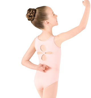 Girls Tank Cut Out Back Leotard - Style No M320C