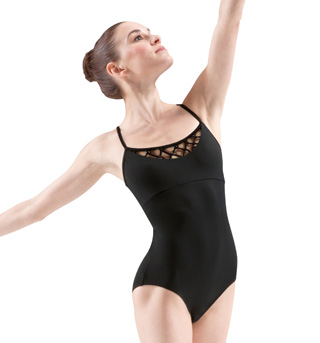 Adult Rouleaux Beaded Knot Camisole Leotard - Style No M4007LM
