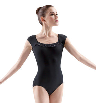 Beaded Cap Sleeve Leotard - Style No M5020LM