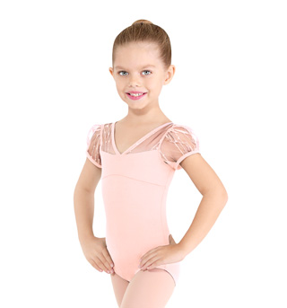 Girls Sequin Puff Sleeve Leotard - Style No M581C