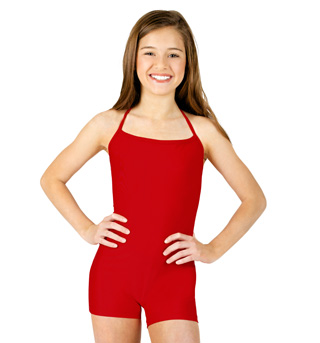 Child Halter Shorty Unitard  - Style No N7004C