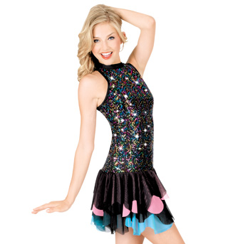 Multi Sequin Halter Dress with Brief  - Style No N7042x