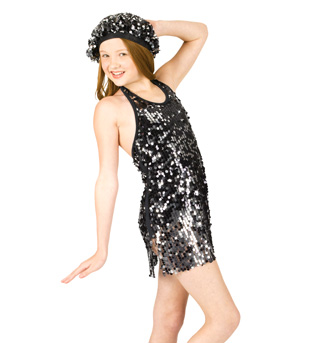 Child Sequin Dress with Attached Leotard - Style No N7054C