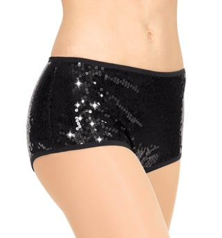Adult Sequin Pantie Brief Dance Shorts - Style No N7055