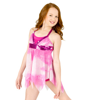 Child Lyrical Costume with Attached Shorty Unitard - Style No N7064Cx