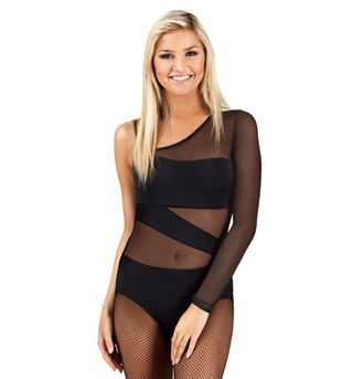 Adult Asymmetrical One Sleeve Spliced Leotard - Style No N7071