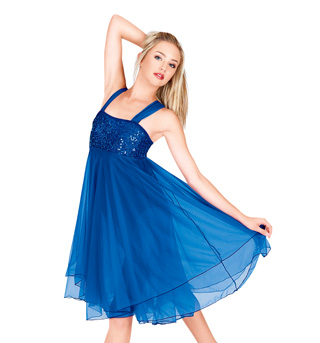 Adult Sequin Bodice Chiffon Dress - Style No N7093