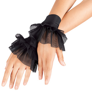 Child Mesh Ruffle Cuffs - Style No N7115C