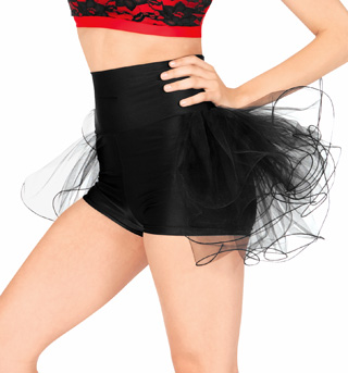 Adult High Waist Bustle Dance Shorts - Style No N7125