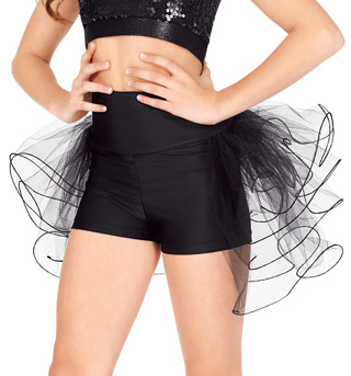 Child High Waist Bustle Dance Shorts - Style No N7125C