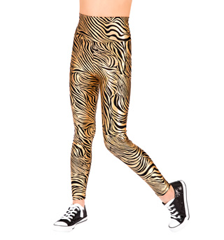 Child High Waist Roxy Zebra Leggings - Style No N7132C