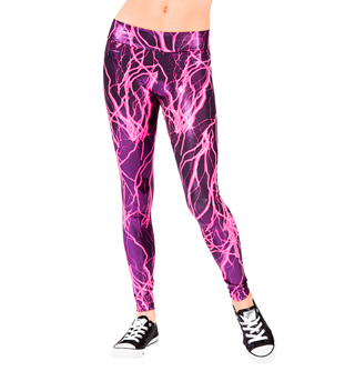 Adult Pink Lightning Bolt Legging - Style No N7133