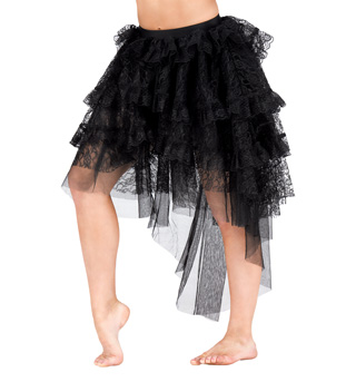 Adult Victorian Lace Hi-Lo Skirt - Style No N7163