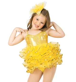 Child Ruffle Camisole Leotard w/Skirt - Style No N7202Cx