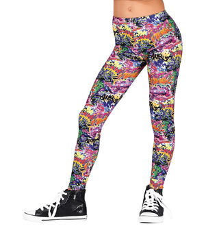 Girls Graffiti Leggings - Style No N7212C