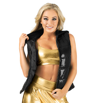 Adult Sequin Puffer Vest - Style No N7226