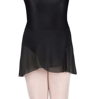 Adult Plus Size Wrap Skirt - Style No N8334WBLK