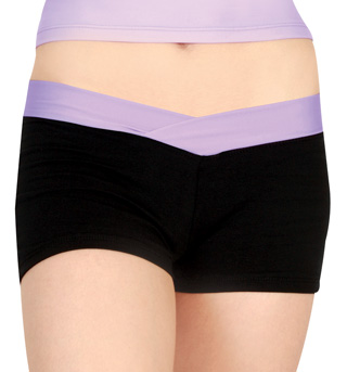 Adult Color Block Dance Shorts - Style No N8361