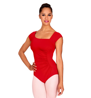 Adult Cap Sleeve Leotard With Shirred Side - Style No N8562