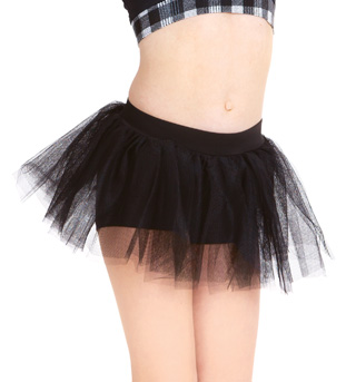 Child Booty Short With Attached Tutu  - Style No N8596C