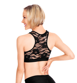 Adult Lace Panel Racerback Bra Top - Style No N8674