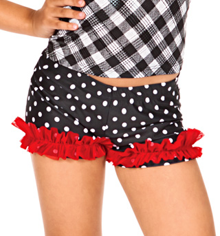 Child Polka Dot Ruffle Dance Shorts - Style No N8690C