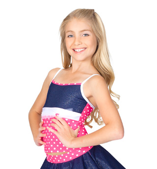 Child Polka Dot & Sparkle Denim Camisole Top - Style No N8695Cx