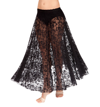 Adult Long Lace Full Circle Skirt - Style No N8724